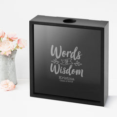 Personalized  Banner Words of Wisdom Shadow Box -  - Graduation Gifts - AGiftPersonalized