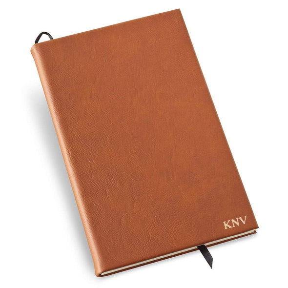 Personalized Rawhide Faux Leather Journal - Gold - JDS