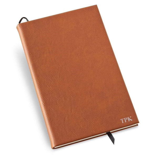 Personalized Rawhide Faux Leather Journal - Silver - JDS
