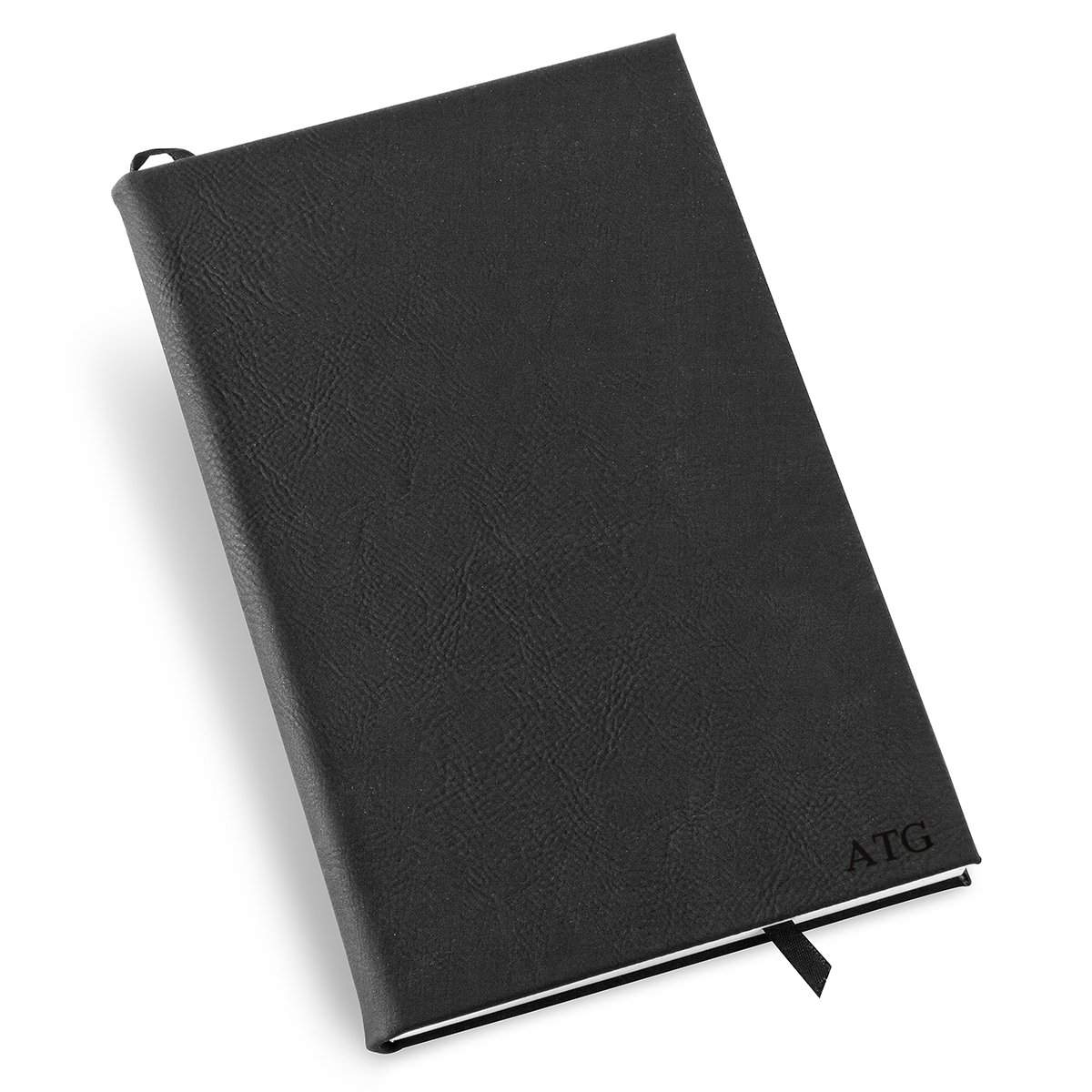 Personalized-Black-Faux-Leather-Journal
