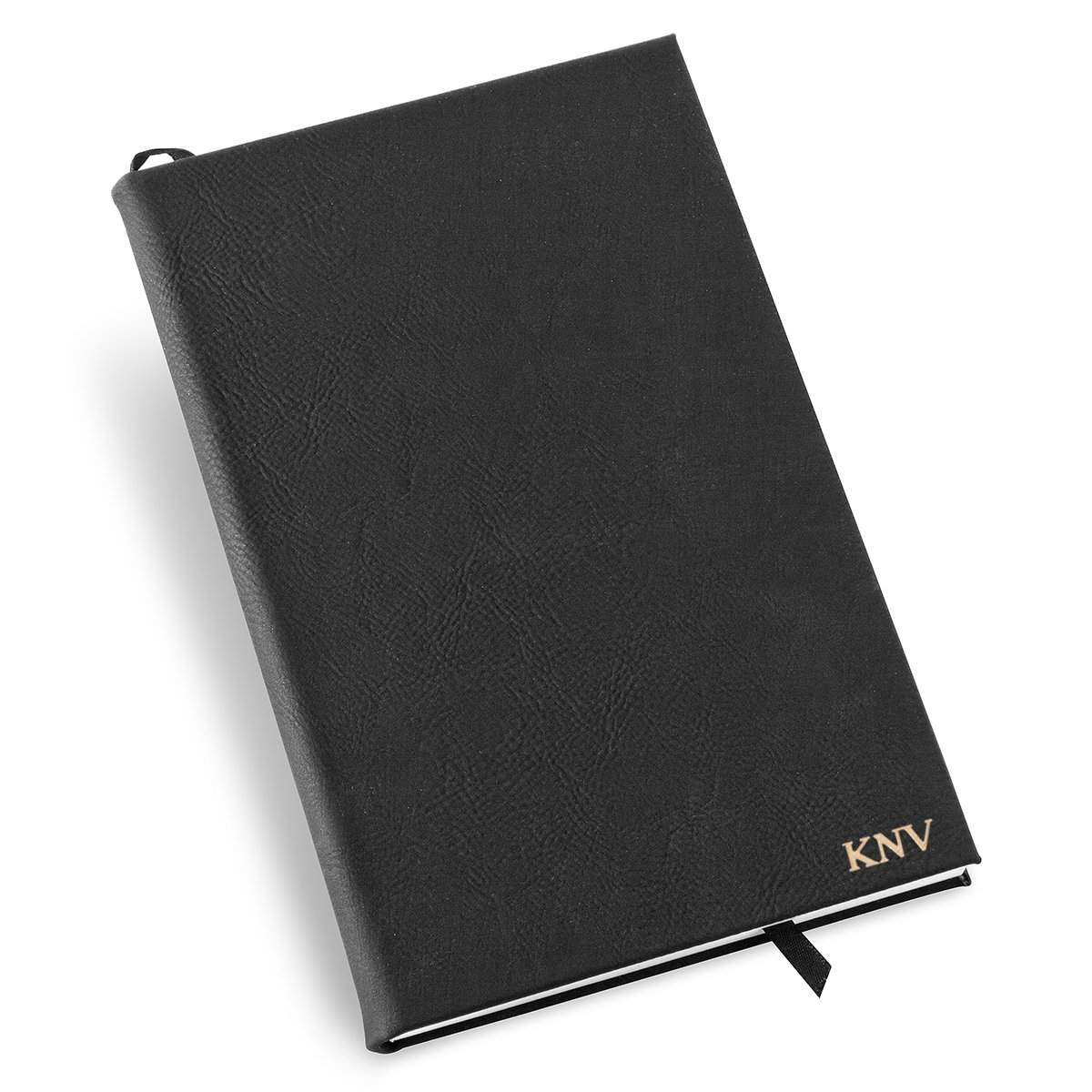 Personalized Black Faux Leather Journal