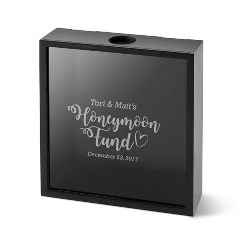 Personalized Honeymoon Fund Shadow box -
