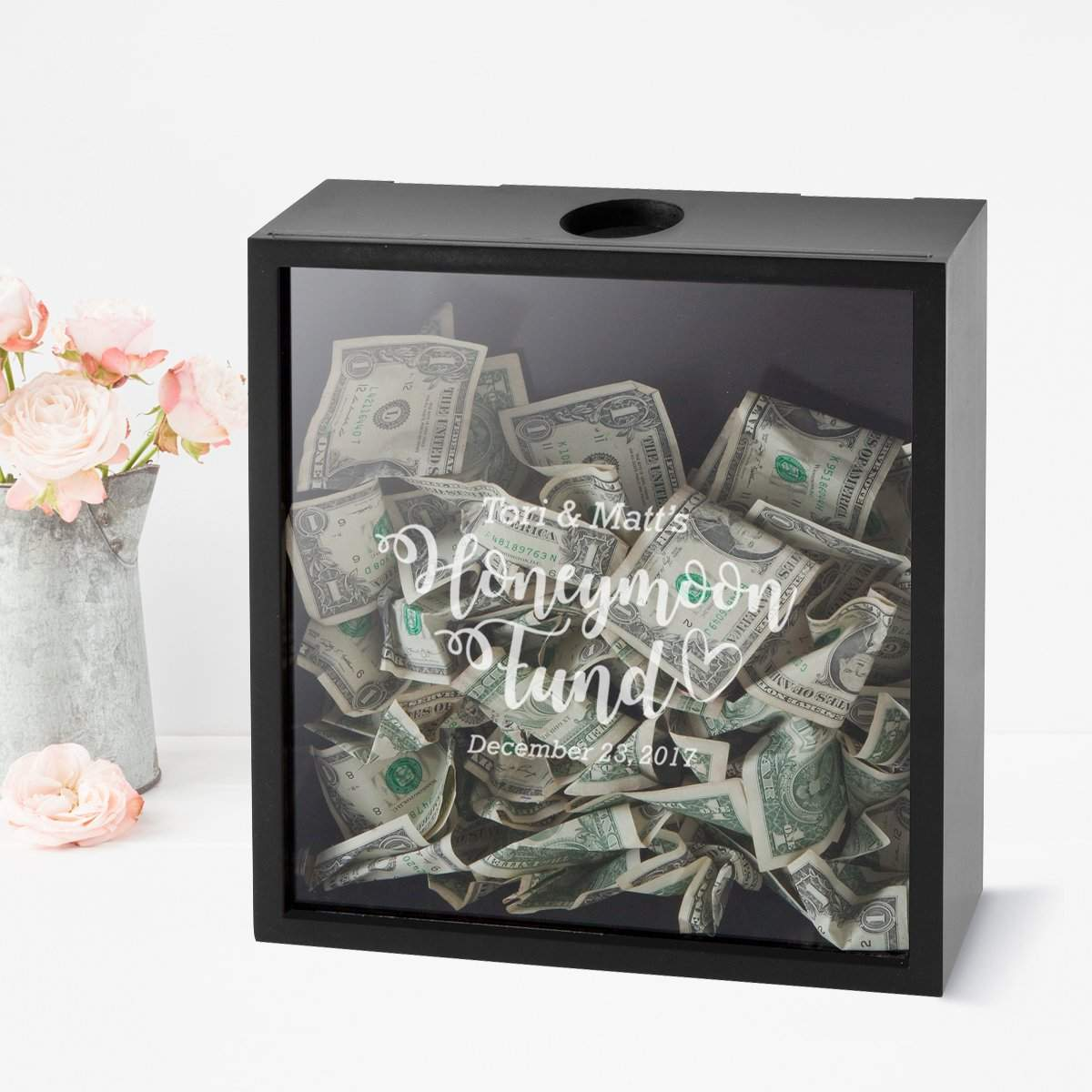 Personalized Honeymoon Fund Shadow box