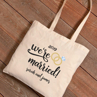 Personalized We're Married Tote Bag -  - JDS