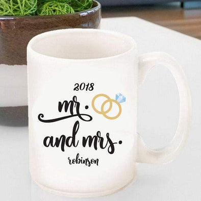 Personalized Mr. & Mrs. Coffee Mugs -  - JDS