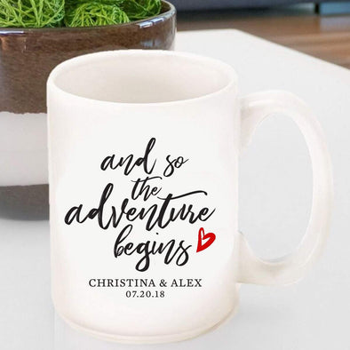 Personalized Adventure Begins Coffee Mug -  - JDS