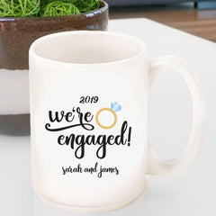 Personalized Coffee Mug- We're Engaged -