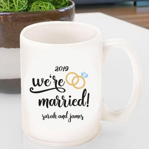 Personalized Coffee Mug - We're Married -