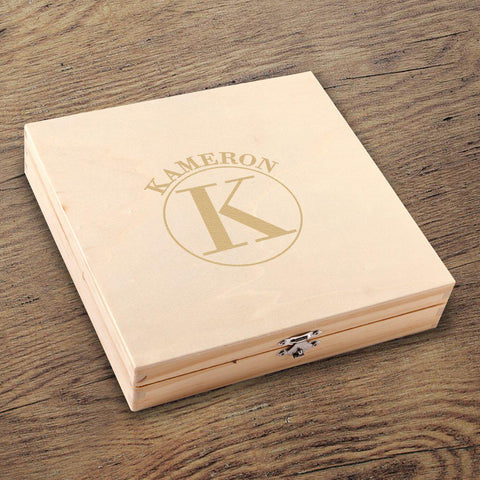 Personalized Kelso Groomsmen Flask Gift Box Set at AGiftPersonalized