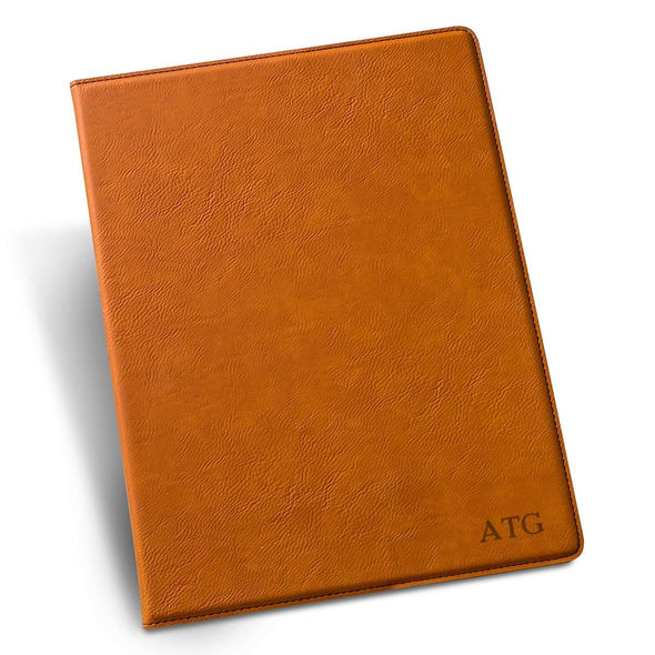 Personalized Debossed Rawhide Portfolio with Notepad - RoseGold - JDS