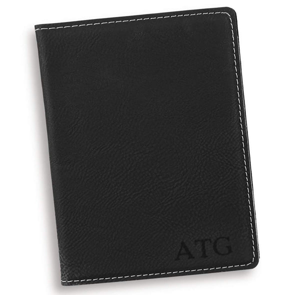 Personalized Black Passport Holder - Blind - JDS