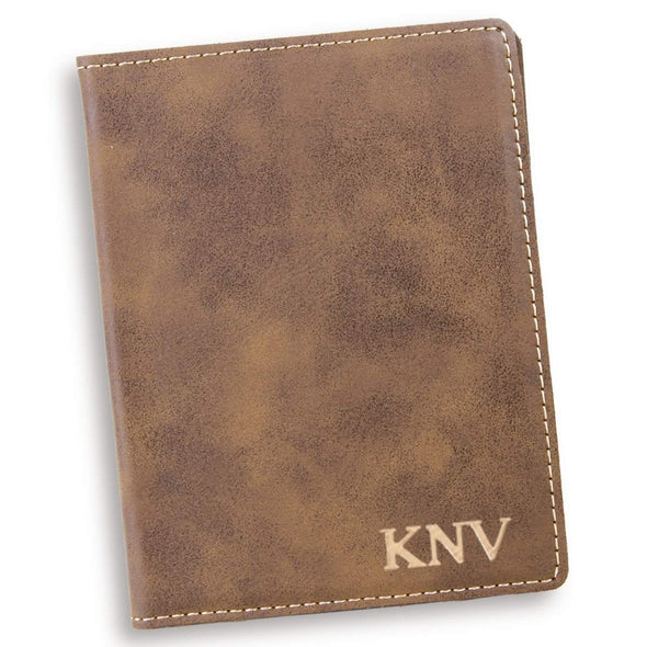 Personalized Rustic Passport Holder - Gold - JDS