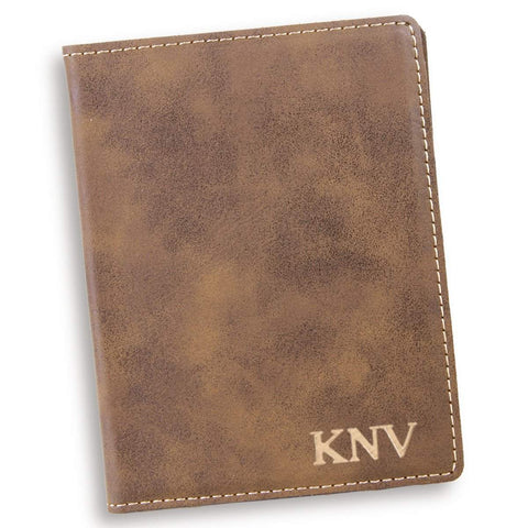 Personalized Rustic Passport Holder - Gold - Travel Gear - AGiftPersonalized