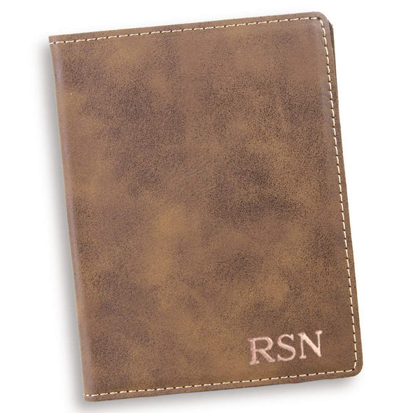 Personalized Rustic Passport Holder - RoseGold - JDS
