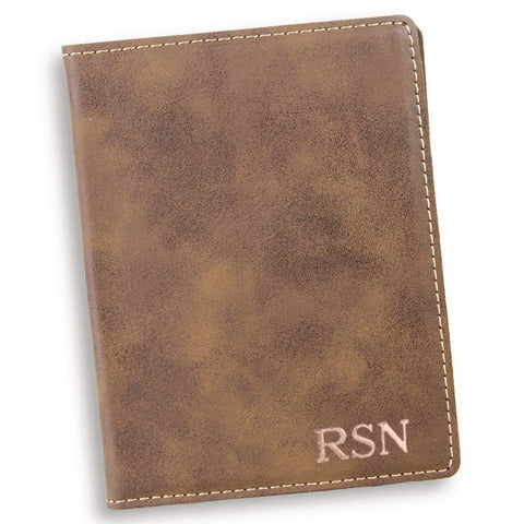 Personalized Rustic Passport Holder - RoseGold - Travel Gear - AGiftPersonalized