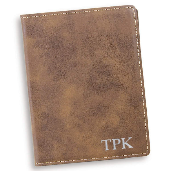 Personalized Rustic Passport Holder - Silver - JDS