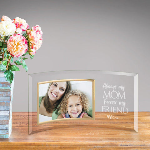 Personalized Mom Forever Friend Glass Picture Frame -  - Frames - AGiftPersonalized