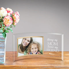 Personalized Mom Forever Friend Glass Picture Frame