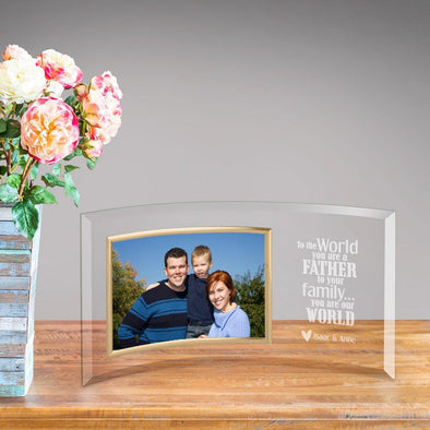 Personalized Father You Are Our World Glass Picture Frame -  - JDS