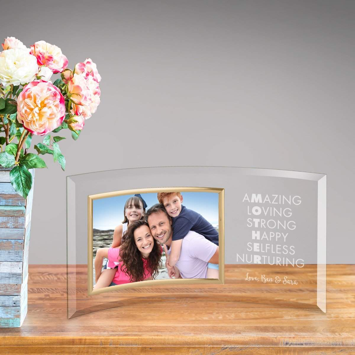Personalized Amazing Mother Glass Picture Frame