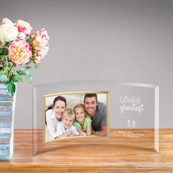 Personalized World's Greatest Mom Glass Picture Frame -  - JDS