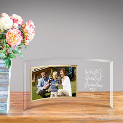 Personalized World's Best Grandma Glass Photo Frame -  - Frames - AGiftPersonalized