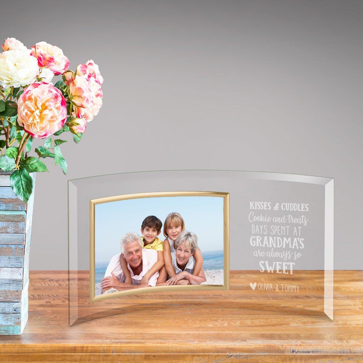 Personalized Grandma So Sweet Glass Picture Frame