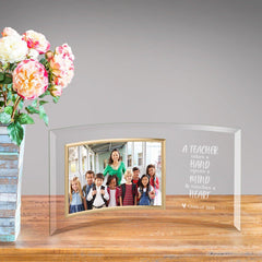 Personalized Teacher Appreciation Glass Picture Frame