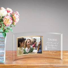 Personalized Teachers Plant Knowledge Glass Picture Frame -
