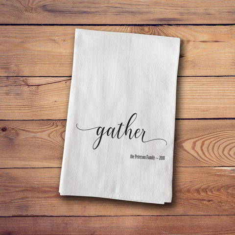 Tea Towels - Farmhouse Style - Gather - Home Decor - AGiftPersonalized