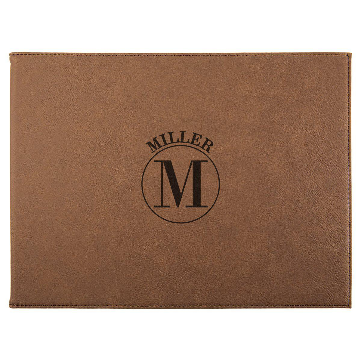 9? x 12? Personalized Certificate Holder - Dark Brown