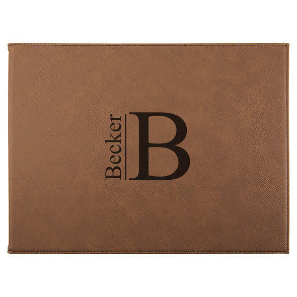"Personalized Certificate Holder 9"" x 12"" - Dark Brown - Modern - JDS"