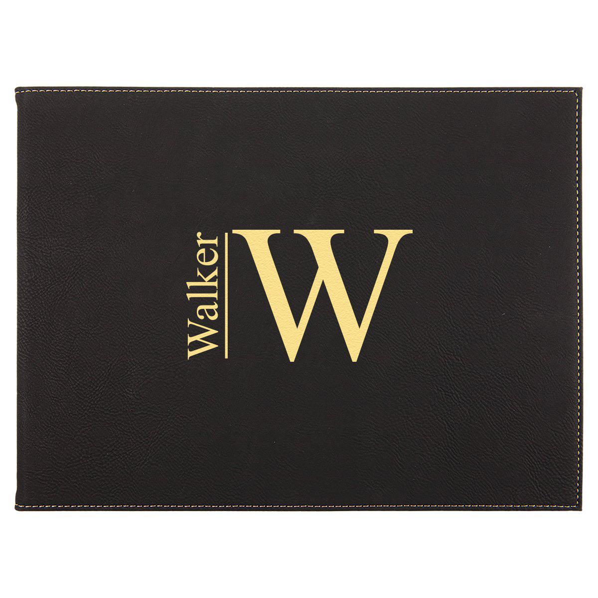 9? x 12? Personalized Certificate Holder - Black