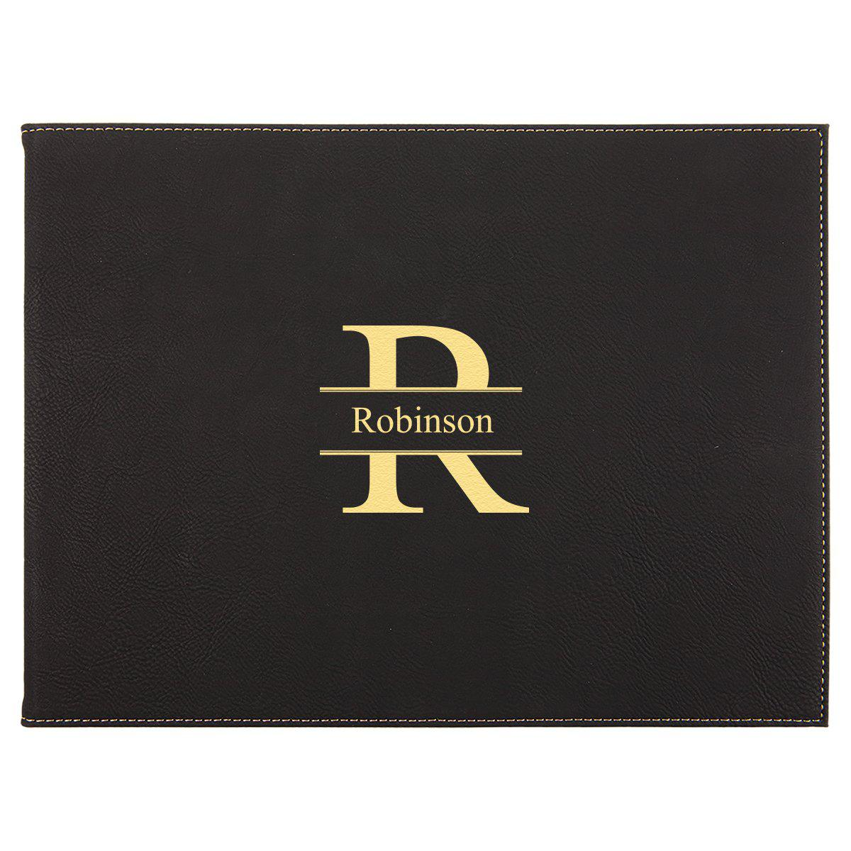 Personalized Certificate Holder 9� x 12� - Black
