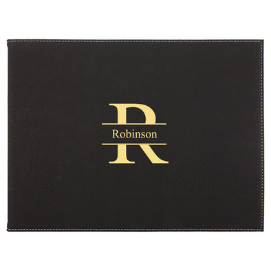 "9"" x 12"" Personalized Certificate Holder - Black - Stamped - JDS"