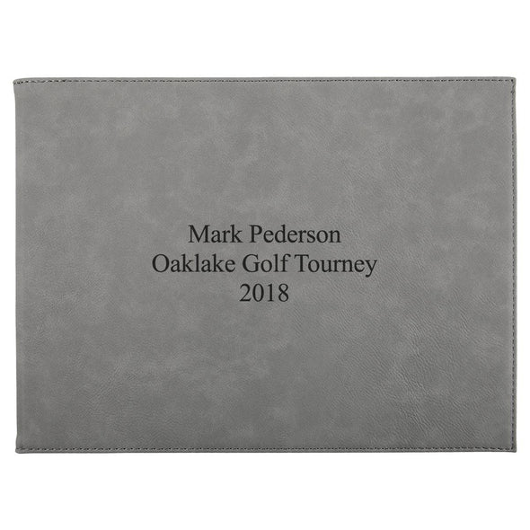 "Personalized Certificate Holder 9"" x 12"" - Gray - 3Lines - JDS"