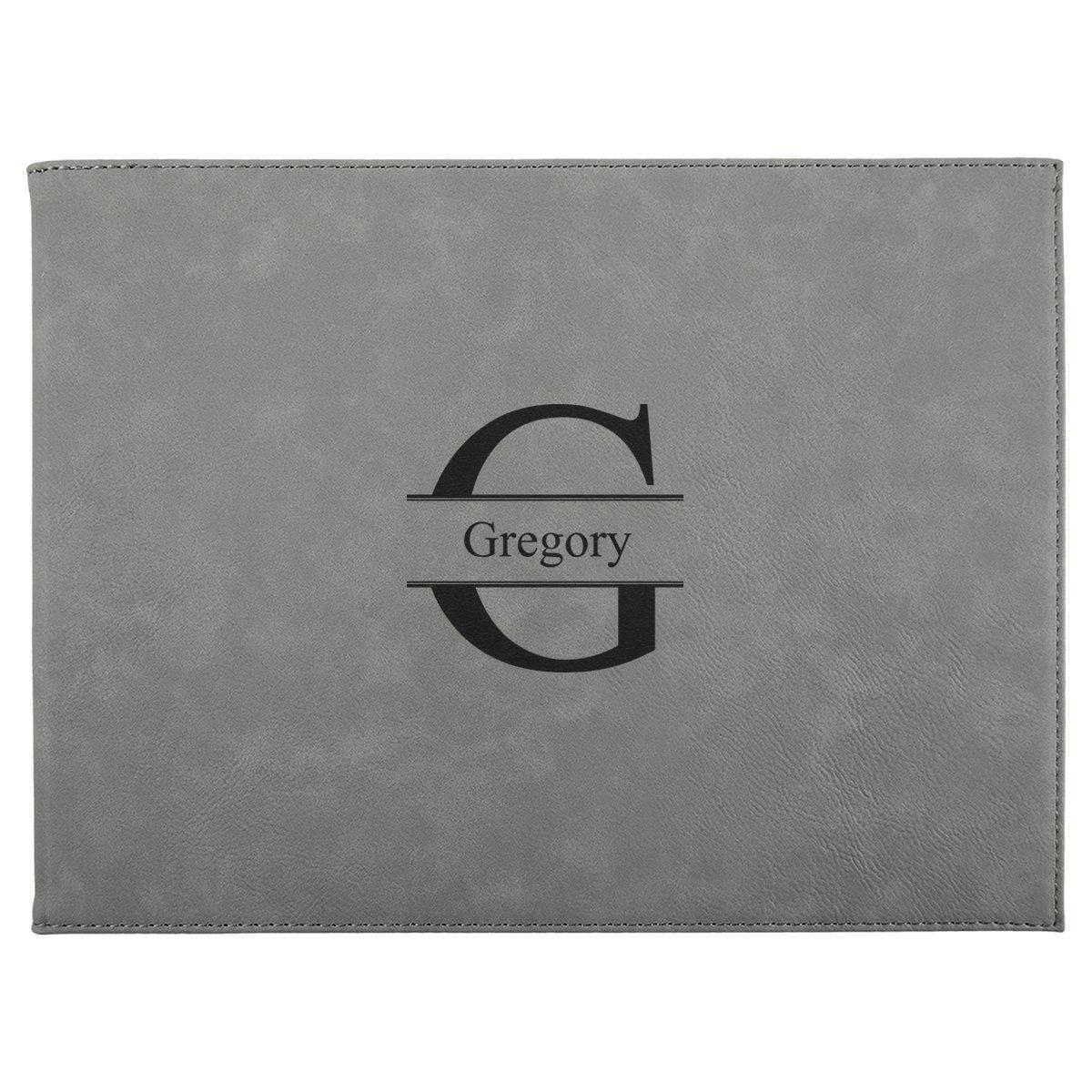 9? x 12? Personalized Certificate Holder - Gray