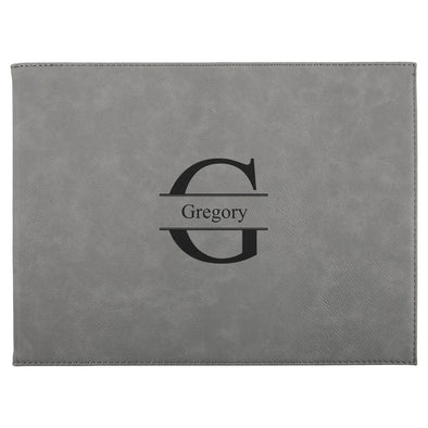 "Personalized Certificate Holder 9"" x 12"" - Gray - Stamped - JDS"