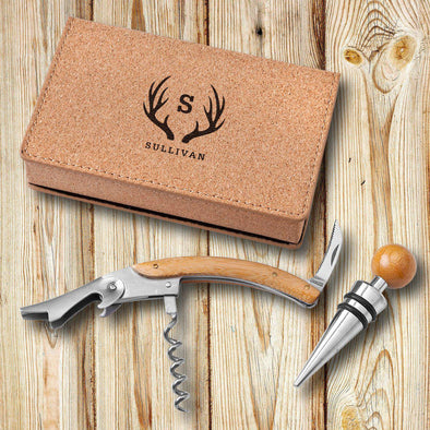 Personalized Cressa Cork Wine Tool Set -  - JDS