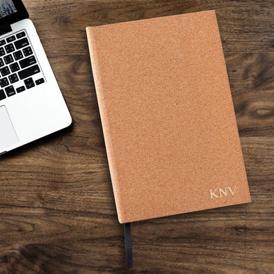 Personalized Cork Journal - Gold - JDS