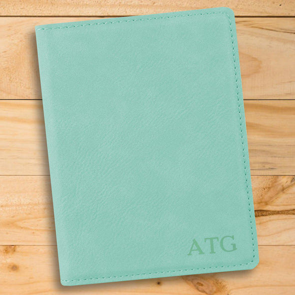 Personalized Mint Passport Holder - Gold - JDS