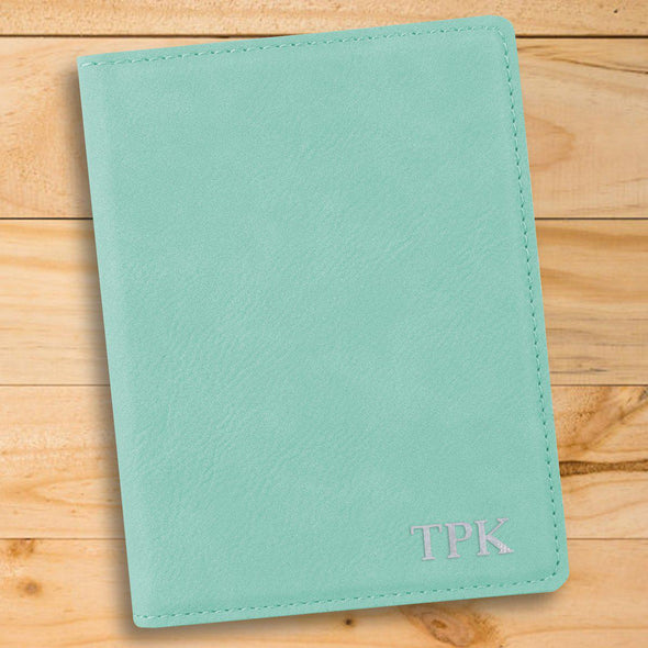 Personalized Mint Passport Holder - Silver - JDS