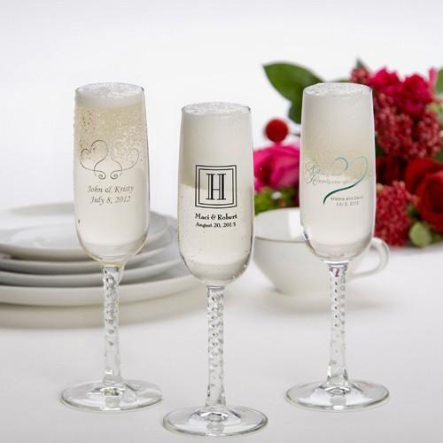 Personalized Printed Champagne Flutes - (Set of 24)
