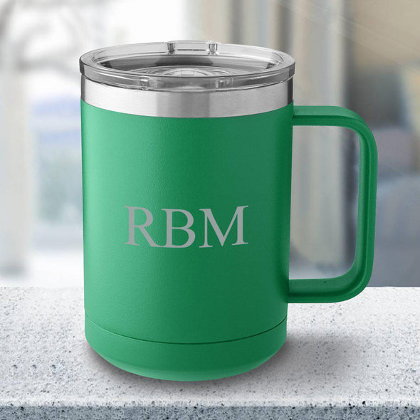 Personalized 15 oz. Tumbler Mug - Green - 3Initials - JDS