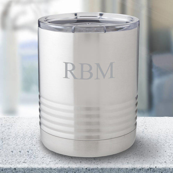 Personalized 10 oz. Tumbler - Stainless Steel - 3Initials - JDS