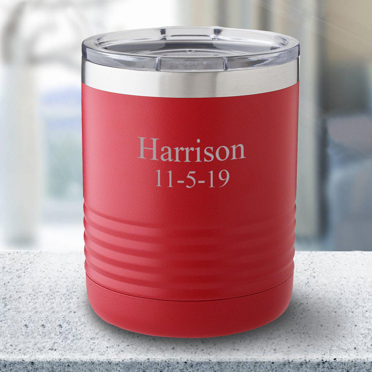 Personalized 10 oz. Tumbler - Red