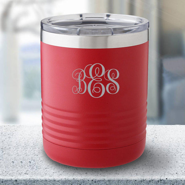 Personalized 10 oz. Tumbler - Red - IMF - JDS