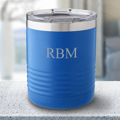 Personalized 10 oz. Travel Mug - Royal Blue - 3Initials - JDS