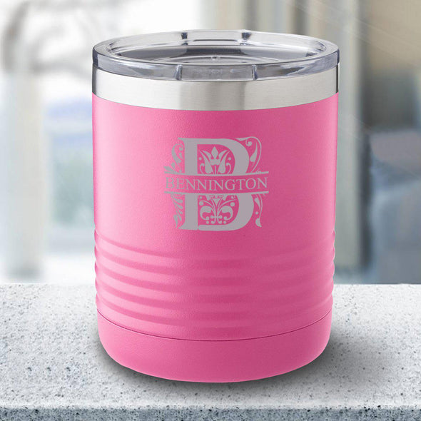 Personalized 10 oz. Tumbler - Pink - Filigree - JDS