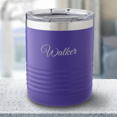 Personalized 10 oz. Tumbler - Purple - Script - JDS